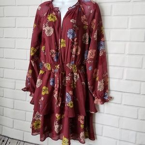 Xhilaration women's burgundy dress